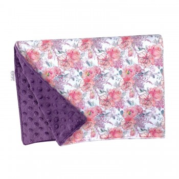 Couverture Minky - Floral Blanc - Oops