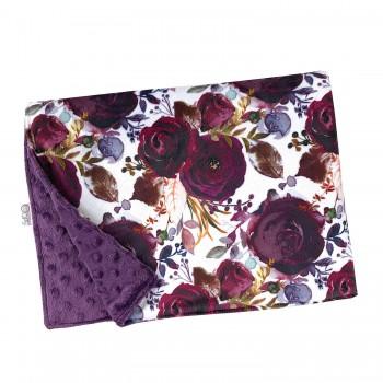 Couverture Minky - Floral Violacé - Oops