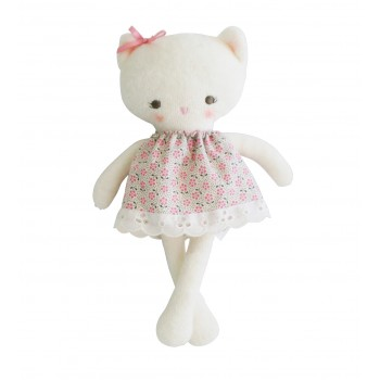 Peluche Mini Kitty Robe Floral 21cm