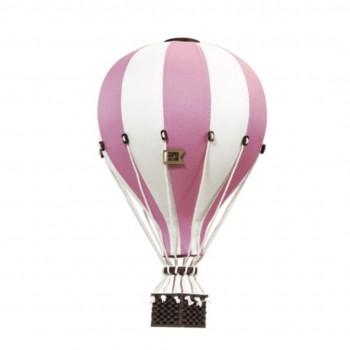 Montgolfière - Moyen - Vieux Rose et Blanc - SuperBalloon