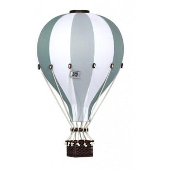 Montgolfière - Moyen - Turquoise Gris et Blanc - SuperBalloon