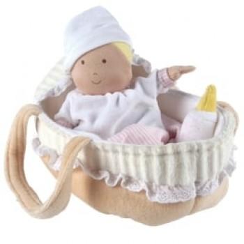 Bébé dans son panier avec biberon et couverture - Grace - Bonikka