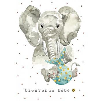 Carte de Souhait 5x7 - Éléphant - Stéphanie Renière