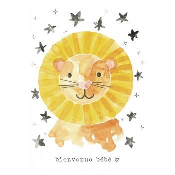 Carte de Souhait 5x7 - Lion - Stéphanie Renière