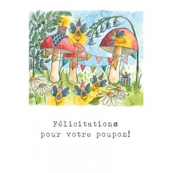 Carte de Souhait 5x7 - Champigon - Stéphanie Renière