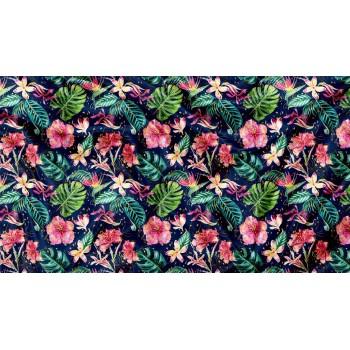 Couverture Minky - Fleur Tropical - Oops