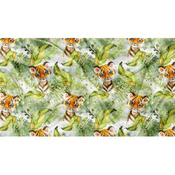 Couverture Minky - Tigre Tropical - Oops