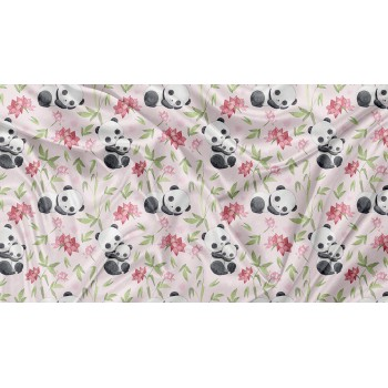 Couverture Minky - Panda Rose - Oops