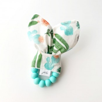 Hochet Dentition - Cactus/fleur - Jululu
