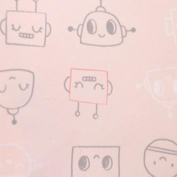 Couvre-tout - 2-4ans - Robot Rose - Perlimpinpin