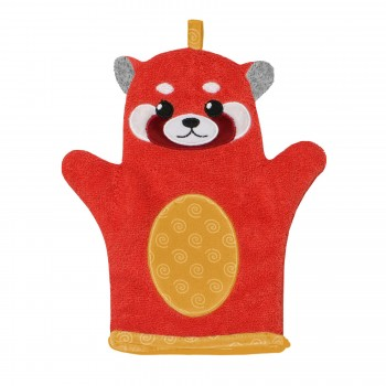 Mitaine de Bain - Panda Rouge - Zoocchini
