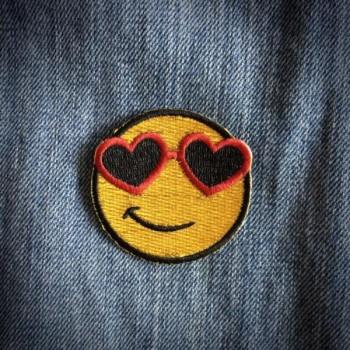 Patch Smiley à lunettes - Les Tatoués