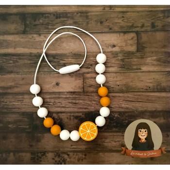 Collier Sensoriel Pour Enfant - Orange