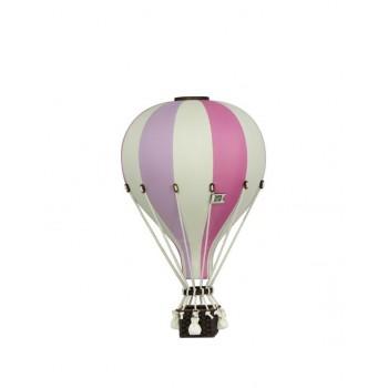 Montgolfière - Moyen - Vieux Rose- Lilas-beige - Super Balloon
