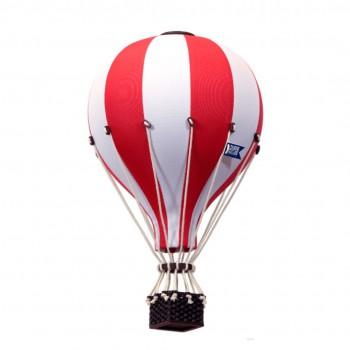 Montgolfière - Petit - Rouge Et Blanc - Superballoon