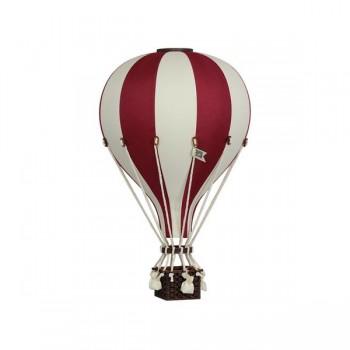 Montgolfière - Petit - Rouge Foncé Et Beige - Superballoon