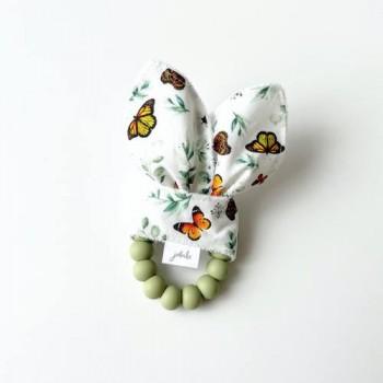 Hochet Dentition - Papillons - Jululu