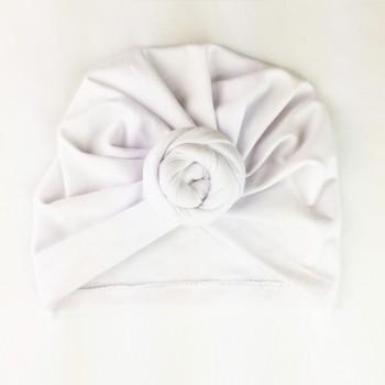 Bonnet À Noeud Turban - Blanc - Babywisp