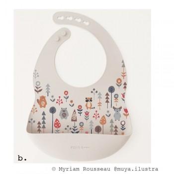 Bavette Silicone - Boréal - Pois & Moi