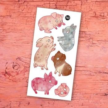 Tatouage Temporaire - Les Cochons de la Ferme